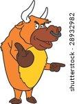 bull character | Shutterstock .eps vector #28932982