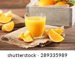 Orange Juice On Table Close Up