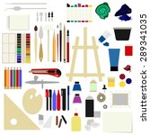 flat icons set of materials for ... | Shutterstock .eps vector #289341035