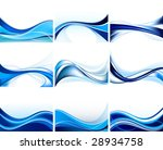 blue design vector set   Shutterstock .eps vector #28934758