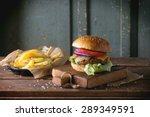 Fresh Homemade Burger On Littl...