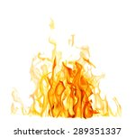 yellow flames isolated on white ...   Shutterstock . vector #289351337