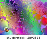 bright neon abstract page design illustration background - stock photo
