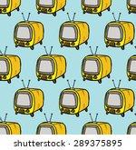 retro television pattern | Shutterstock .eps vector #289375895