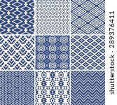 geometric seamless ethnic... | Shutterstock .eps vector #289376411
