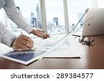 business documents on office... | Shutterstock . vector #289384577