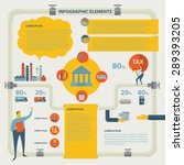 the process of oil production... | Shutterstock .eps vector #289393205