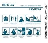 mers_cov prevention sign ... | Shutterstock .eps vector #289394987