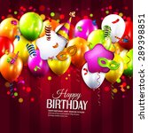 vector birthday card with... | Shutterstock .eps vector #289398851