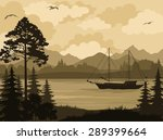 Landscape With Ship Sailboat O...