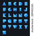 geometric paper alphabet.... | Shutterstock .eps vector #289402181