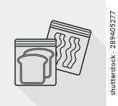 kitchenware zipper bags flat... | Shutterstock .eps vector #289405277