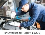 portrait of an auto mechanic at ... | Shutterstock . vector #289411277