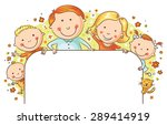 happy family with three... | Shutterstock .eps vector #289414919