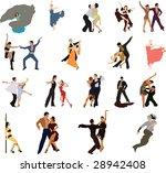 dancing. | Shutterstock . vector #28942408