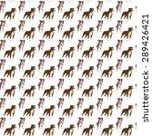 dog pattern american... | Shutterstock . vector #289426421
