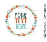 vector set of invitation cards | Shutterstock .eps vector #289430144