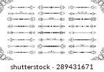 ornate vintage divide set is on ...   Shutterstock .eps vector #289431671