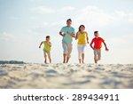 modern family in casualwear... | Shutterstock . vector #289434911