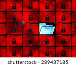 protection concept  rows of...   Shutterstock . vector #289437185