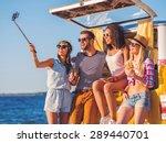 Road Trip Selfie. Group Of...