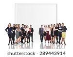 successful team standing near... | Shutterstock . vector #289443914
