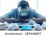 he needs help. hopeless young... | Shutterstock . vector #289448897