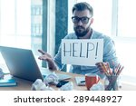 asking for help. frustrated... | Shutterstock . vector #289448927