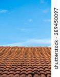 orange tile roof under blue sky ... | Shutterstock . vector #289450097