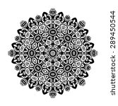 round ornament. ethnic mandala. ... | Shutterstock .eps vector #289450544