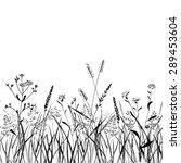 seamless pattern grass strip.... | Shutterstock .eps vector #289453604