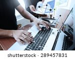 business documents on office... | Shutterstock . vector #289457831