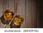 glasses of whiskey with ice on... | Shutterstock . vector #289459781
