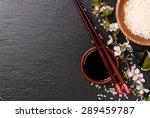 japanese sushi chopsticks  soy... | Shutterstock . vector #289459787