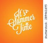 summer holiday vintage... | Shutterstock .eps vector #289461695
