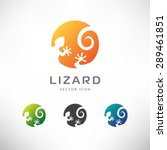 circle lizard icon. logo design. | Shutterstock .eps vector #289461851