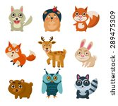 forest animals vector... | Shutterstock .eps vector #289475309