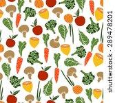 assorted vegetables vector... | Shutterstock .eps vector #289478201