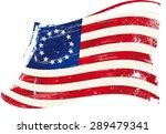 betsy ross flag grunge. a...   Shutterstock .eps vector #289479341