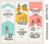 nautical elements banner... | Shutterstock .eps vector #289479674