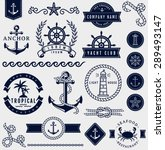 set of sea and nautical... | Shutterstock .eps vector #289493147