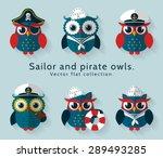 Ahoy  Set Of Sailor  Captain...