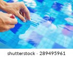 analyzing of a water from... | Shutterstock . vector #289495961