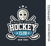 sport hockey club vintage badge ... | Shutterstock .eps vector #289496531
