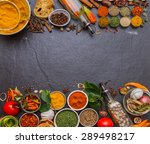 turmeric  parsley  pepper ... | Shutterstock . vector #289498217