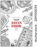 vertical asian food frame.... | Shutterstock .eps vector #289500059