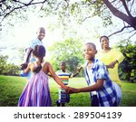 african family happiness...   Shutterstock . vector #289504139