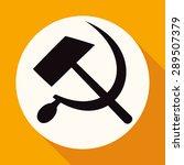 icon sickle hammer on white... | Shutterstock .eps vector #289507379