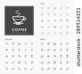 coffee thin  medium and bold... | Shutterstock .eps vector #289514351