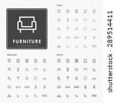 furniture thin  medium and bold ... | Shutterstock .eps vector #289514411